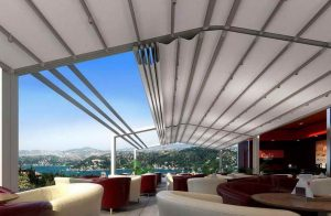 سقف متحرک رستوران های شیک