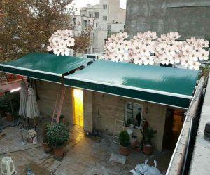 نصب سایه بان برقی در حیاط منزل