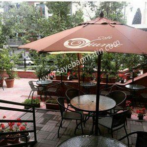 نصب سایبان چتری در رستوران میعاد