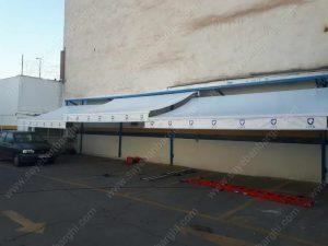 سایبان پارکینگ بیمارستان