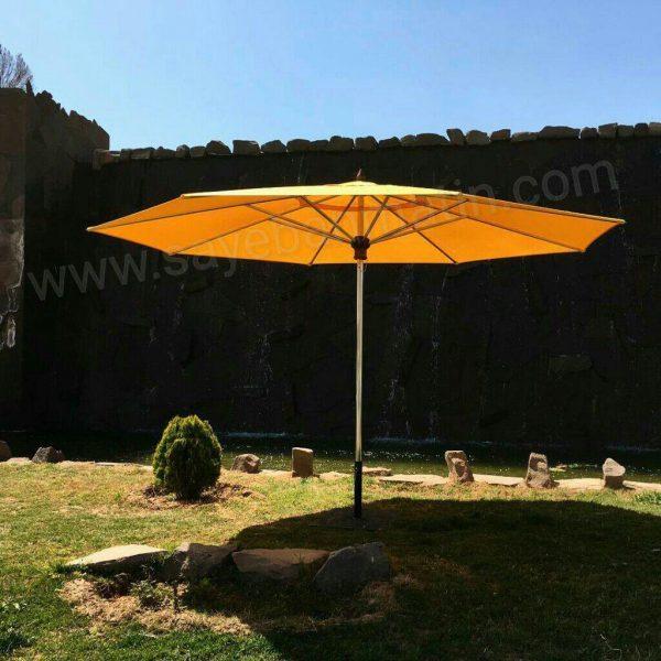 سایبان چتری استنلس استیل هشت ضلعی قطر ۴ متر