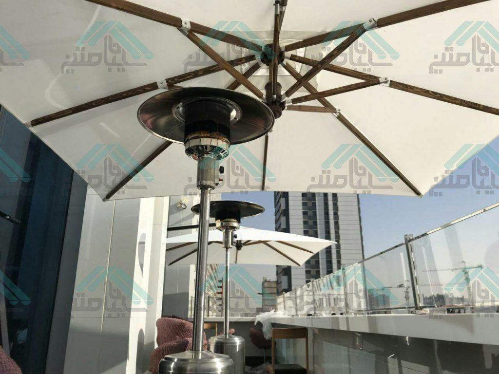 سایبان چتری پایه کنار مربع ۳×۳