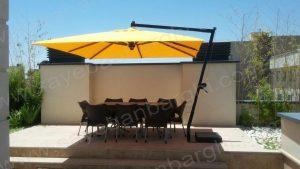 سایبان چتری پایه کنار مربع ۴×۴